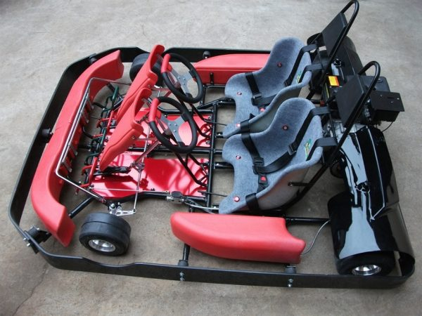 Road Rat Racer 9.5 HP XB Double Go Kart (Bumper Edition)