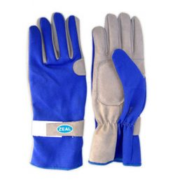 Zeal Race Kart Gloves blue/grey