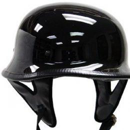 103G - DOT GERMAN GLOSS/FLAT BLACK MOTORCYCLE HELMET