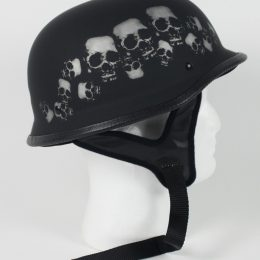 103SP - DOT German Skull Pile Motorcycle Helmet