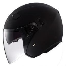 RK6B - Black DOT Motorcycle Helmet RK-6 Open Face with 2 Shields