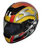 Race Full Face Motorcycle Helmets - Yellow Blade